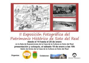 II Exposión Fotográfica del Patrimonio Histórico de Soto del Real @ Casa de la Cultura